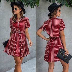 Dresses & Skirts - Women's Button Down Dress, Flared NEW XL